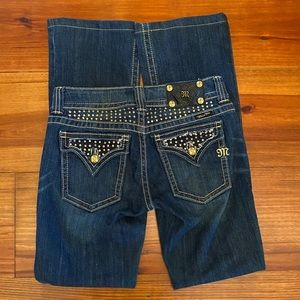 Miss Me 'Boot' Jeans Sz 28 'Gold Bling' EUC